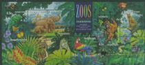 AUS SGMS1484 Australian Zoos, Endangered Species miniature sheet with Melbourne overprint